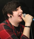 Young punk singer Stock Photo