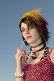 Young Punk Woman Royalty Free Stock Photography