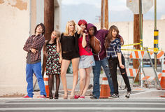 Young punky teen group photo stock images