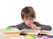 Young pupil learning and having fun Stock Image