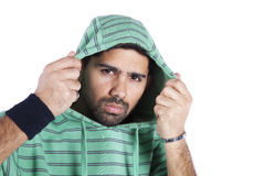 Young man in hoody Royalty Free Stock Photo