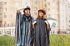 Young rastafarian couple Royalty Free Stock Image