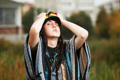 Young rastafarian man Stock Photos