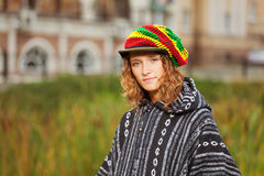 Young rastafarian woman Stock Image