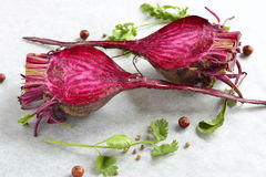 Young  raw beets. For roasting Royalty Free Stock Photos