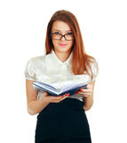 Young reading woman Stock Photos