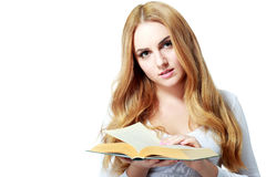 Young reading woman Stock Photography