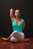 Young real yoga instructor practicing Royalty Free Stock Image