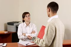 Young receptionist Stock Photography