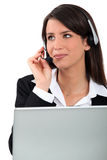 Young receptionist Stock Image