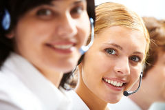 Young receptionist Stock Images