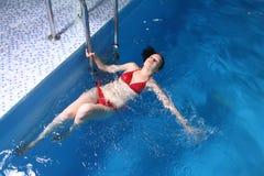 Young in Red Bikini Woman In Basin Stock Photos