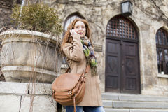 Young red hair woman Stock Photography