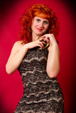 Young red-haired girl Royalty Free Stock Images