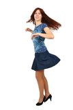 Young red haired girl dancing Royalty Free Stock Photo
