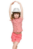 Young red-haired girl in the hat Stock Photography