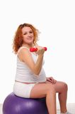 Young red-haired pregnant girl Royalty Free Stock Image