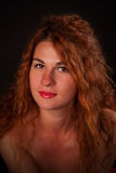 Young red-haired woman stock photo