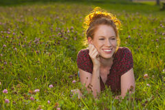 Young red haired woman Royalty Free Stock Photos