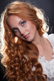Young Red- Haired Woman Royalty Free Stock Images