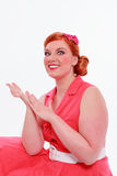 Young red-haired woman with voluptuous curves Stock Photo