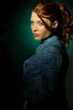 Young redhair woman Royalty Free Stock Image