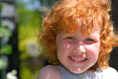 Young redhead royalty free stock images