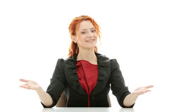 Young redhead businesswoman Royalty Free Stock Image
