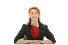 Young redhead businesswoman Royalty Free Stock Photos