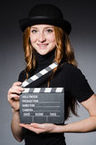 Young redhead girl in hat Stock Photos