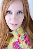 Young redhead girl portrait Royalty Free Stock Photos