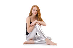 Young redhead girl Royalty Free Stock Images