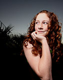 Young redhead teen Royalty Free Stock Images