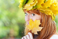 Young redhead teenager woman Royalty Free Stock Photos
