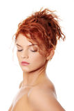 Young redhead woman Stock Image