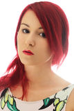 The young redhead woman bright portrait Stock Photography