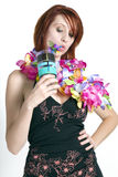 Young redhead woman on vacation Royalty Free Stock Images