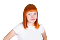Young redheaded woman Stock Photo