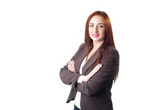 Young redheead business woman portrait. Stock Images
