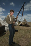 Young reenactor at Gettysburg Stock Images
