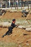 Young reenactor at Osovets battle reenactment Royalty Free Stock Photos