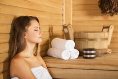 Young woman relaxing in spa.Healthcare and beauty stock photo