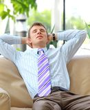 Young relaxed business man Stock Image