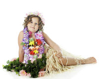 Young, Relaxed Hula Dancer Stock Photography