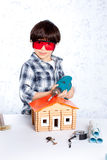 Young repairman Stock Images
