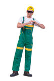 The young repairman isolated on the white background Stock Photography