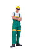 The young repairman isolated on the white background Royalty Free Stock Images