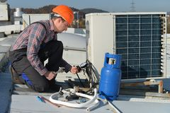 Air Conditioning Repair Royalty Free Stock Photography