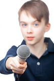 Young reporter Royalty Free Stock Photos