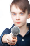Young reporter Royalty Free Stock Photography